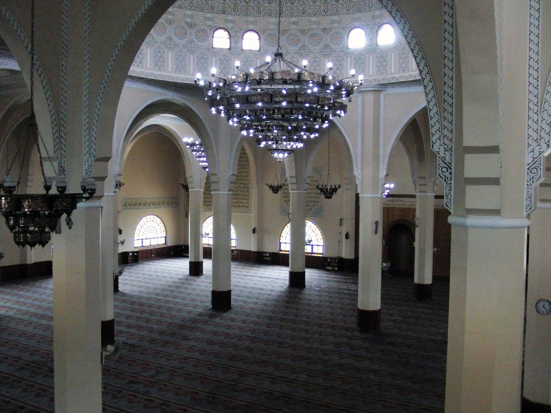 Old Kampala mosque interior view