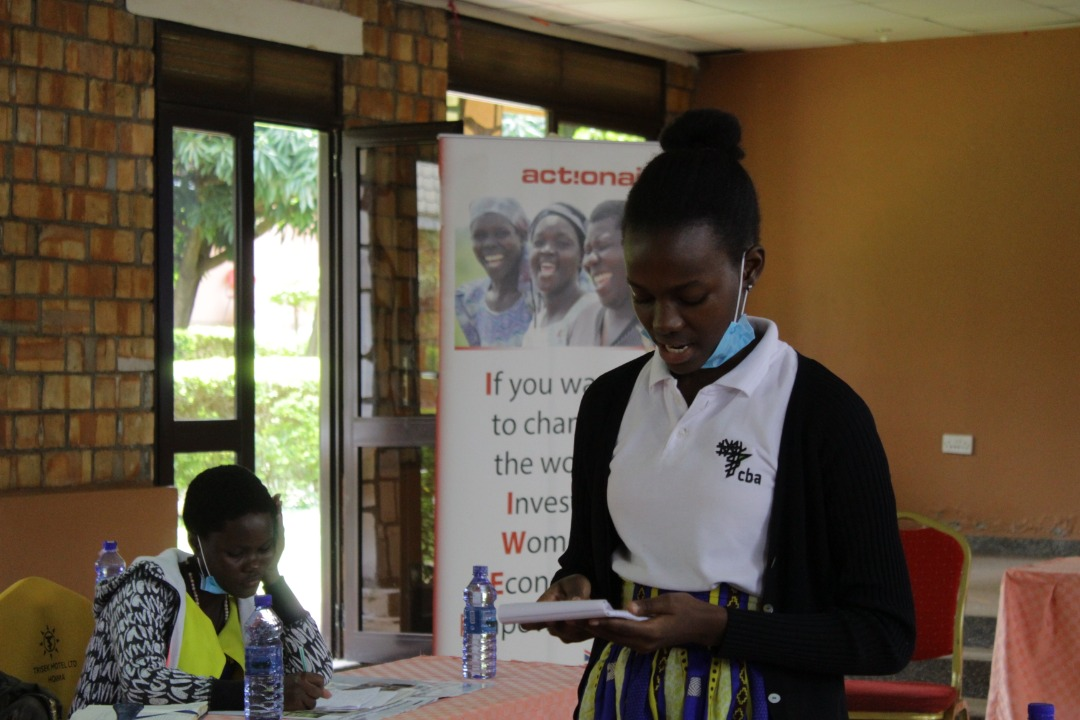 A student taking part in the debate